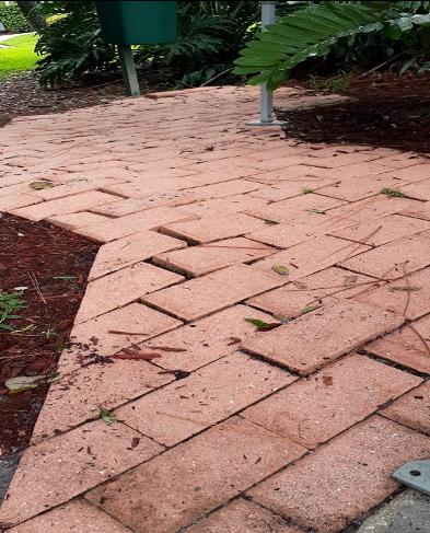 sidewalk tiles placed