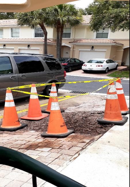 cones around area to work
