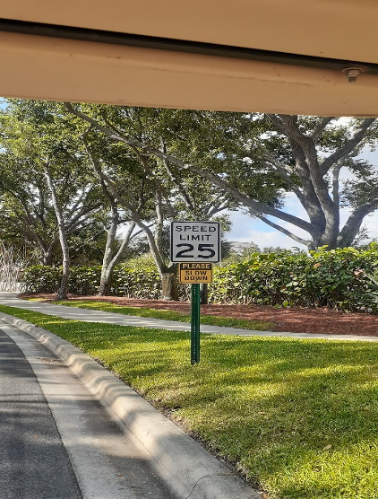 New Speed limit sign