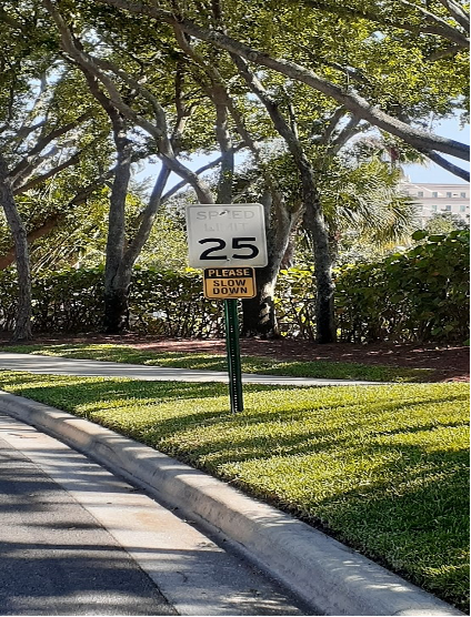 old speed limit sign